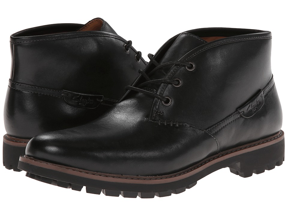Clarks - Montacute Duke (Black Leather) Men's Lace-up Boots