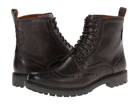 Clarks - Montacute Lord (Charcoal Leather) Men's Lace-up Boots