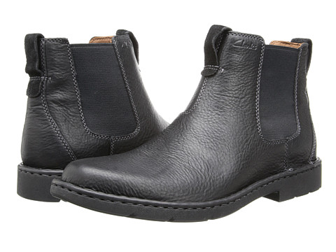 Clarks - Stratton Hi (Black Leather) Men