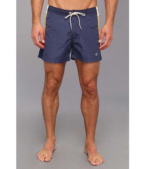 Gant Rugger - Patch Panel Swim Trunk (Harbour Navy) Men