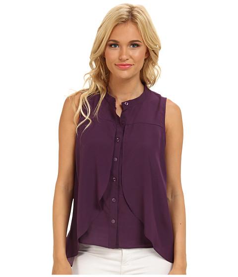 BCBGeneration - Front Overlay Shirt (Venetian) Women's Sleeveless