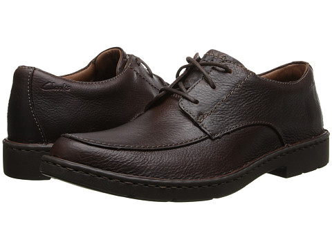 Clarks - Stratton Time (Brown Leather) Men's Shoes