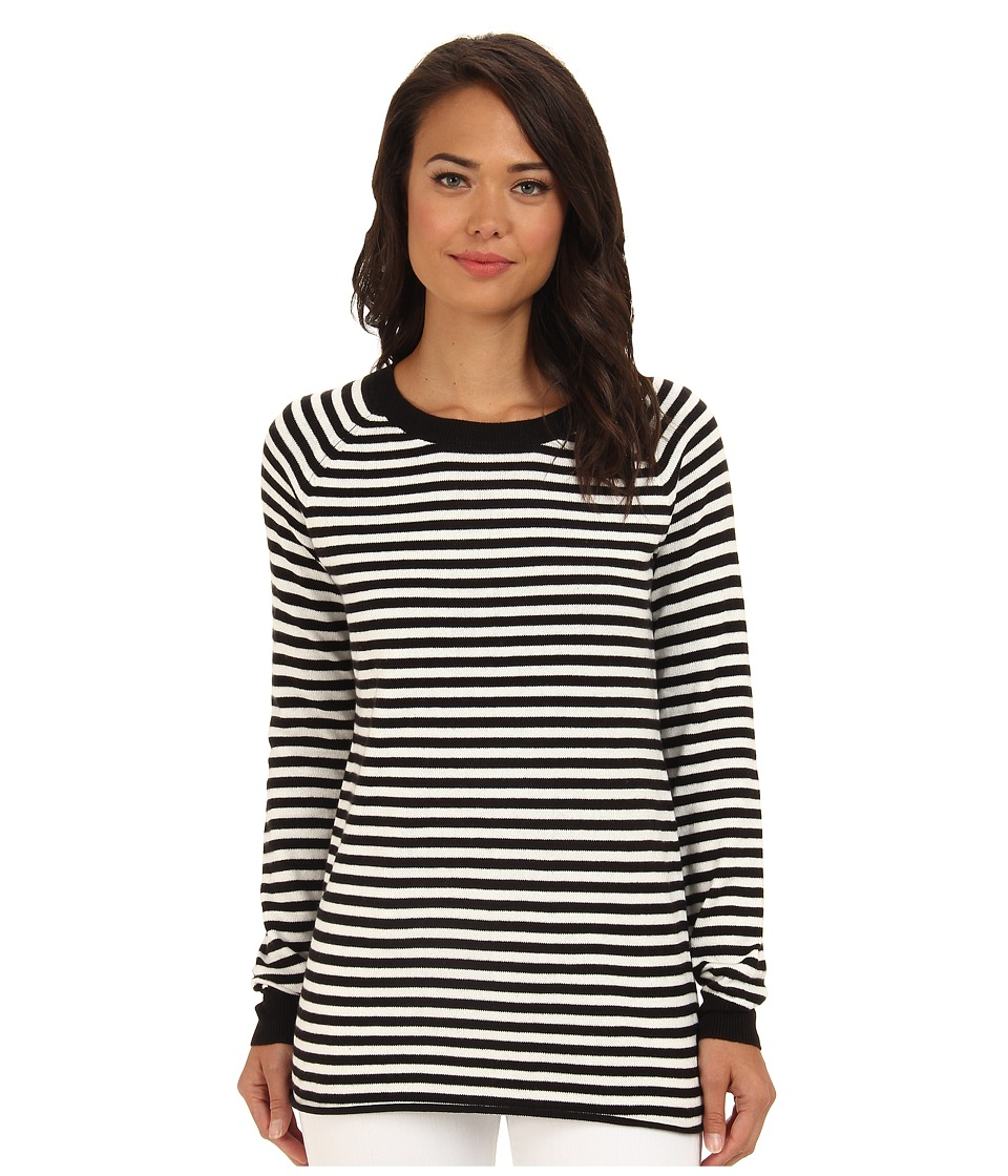 BCBGeneration - Stripe Boyfriend Sweater (Black Combo) Women's Sweater