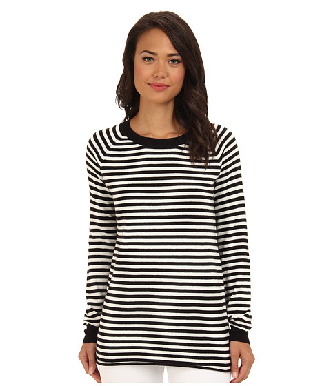 BCBGeneration - Stripe Boyfriend Sweater (Black Combo) Women