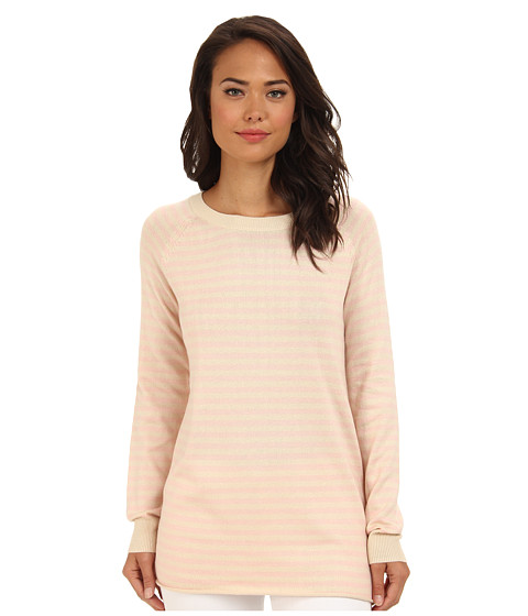 BCBGeneration - Stripe Boyfriend Sweater (Nude Combo) Women's Sweater