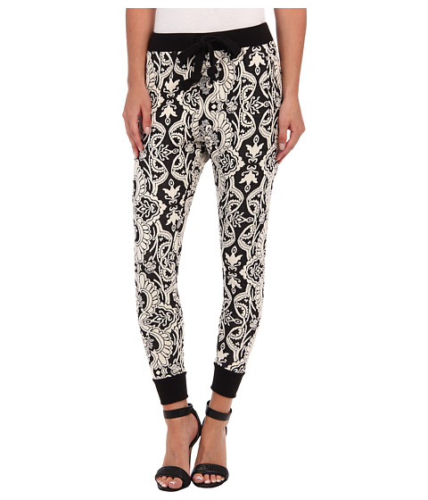 BCBGeneration - Novelty Sweatpant (Black Combo) Women's Casual Pants