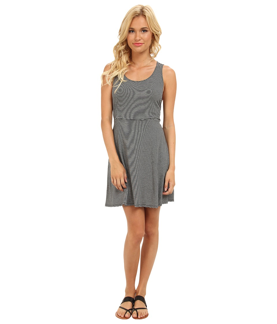 BCBGeneration - Cutout Back Dress (Heather Grey Black Stripe) Women's Dress