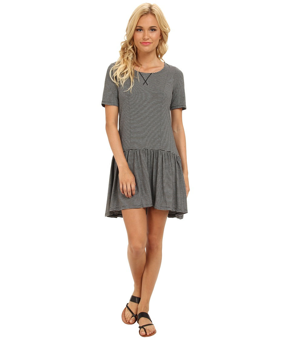 BCBGeneration - Slip On Dress (Heather Grey Black Stripe) Women's Dress