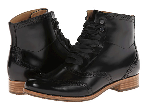 Sebago - Claremont Boot (Black Brush Off) Women's Lace-up Boots