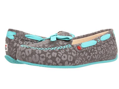 UGG - Belle (Grey Leopard Suede) Women's Shoes