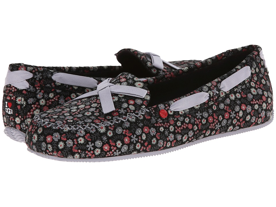 UGG - Belle (Black Floral Suede) Women's Shoes