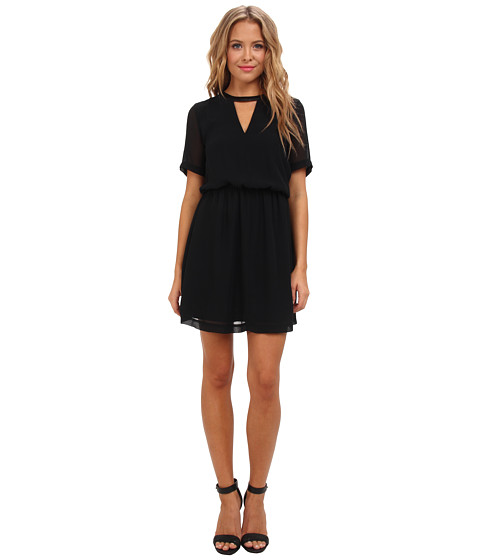 BCBGeneration - Dress With Cut Out Neck (Black) Women's Dress