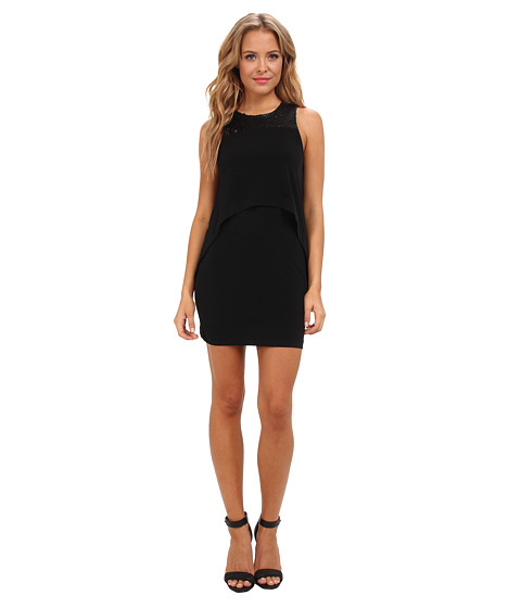 BCBGeneration - Double Layer Tank Dress (Black) Women's Dress