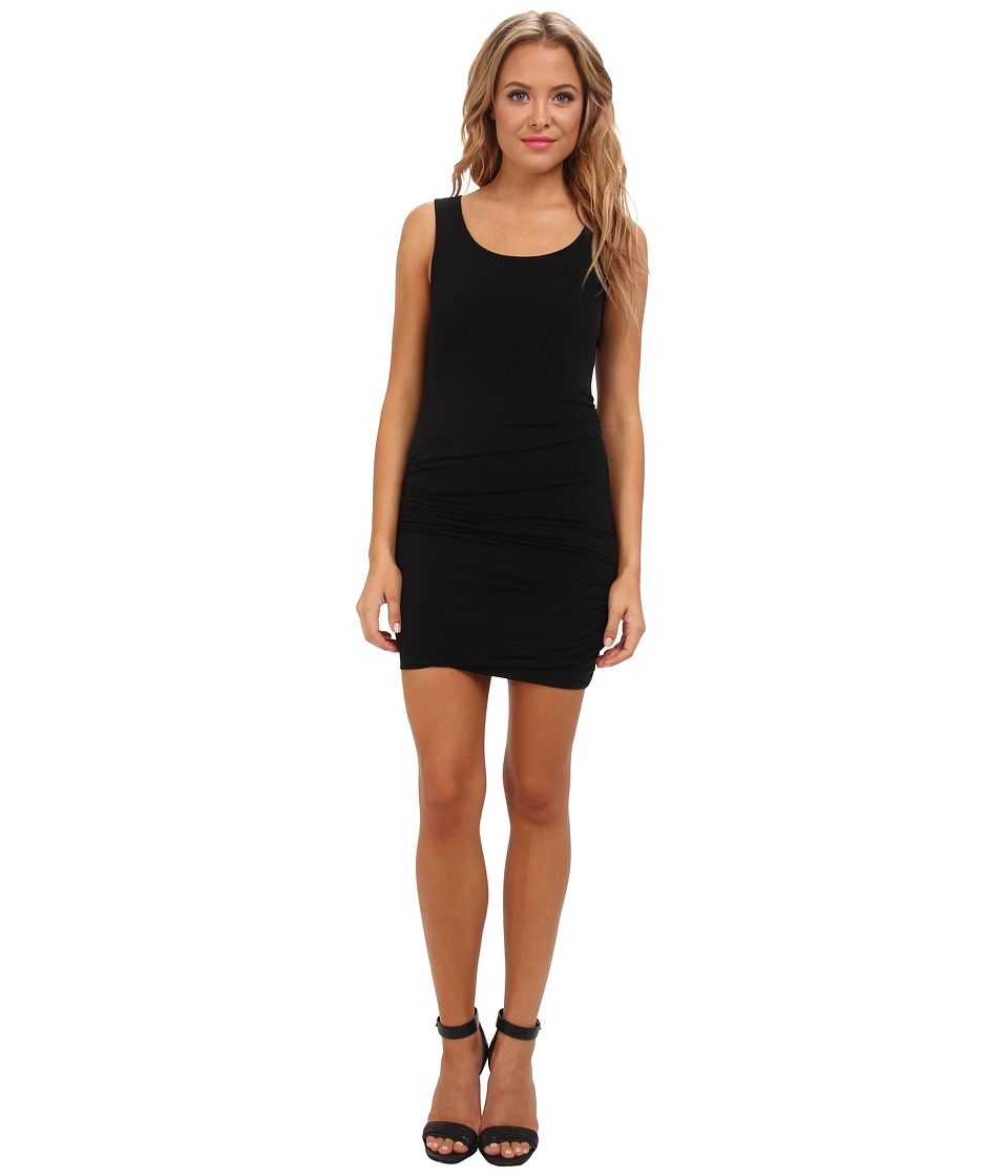 BCBGeneration Shirred Tank Dress (Black) Women