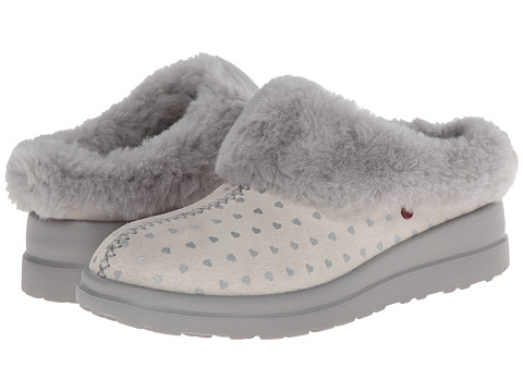 Shoes Online Sale UGG - Dreams (Silver Hearts Suede) Women's Slippers