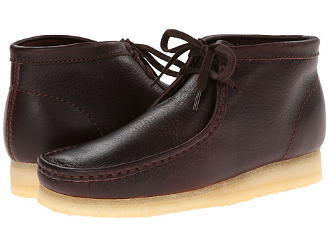 Clarks - Wallabee Boot (Brown Tumbled Leather) Men's Lace-up Boots