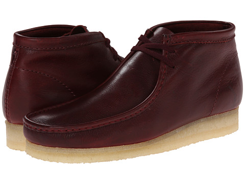 Clarks - Wallabee Boot (Burgundy Leather) Men