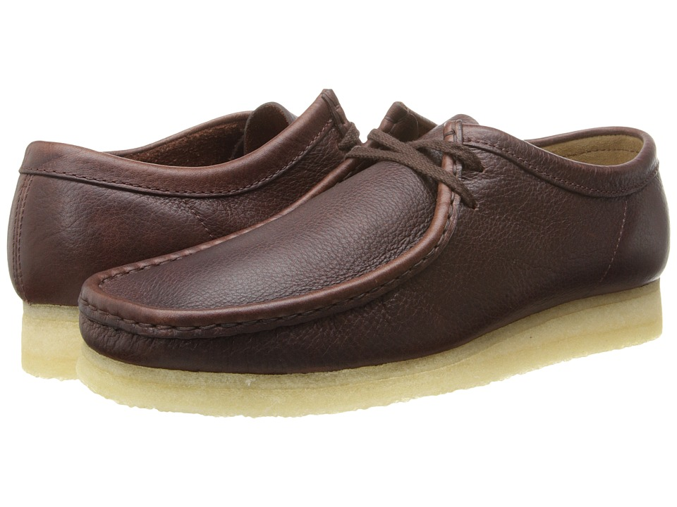 Clarks - Wallabee (Brown Tumbled Leather) Men's Lace up casual Shoes