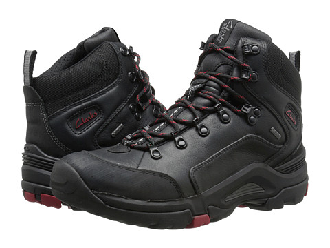 Clarks - Outride Hi GTX (Black Leather) Men