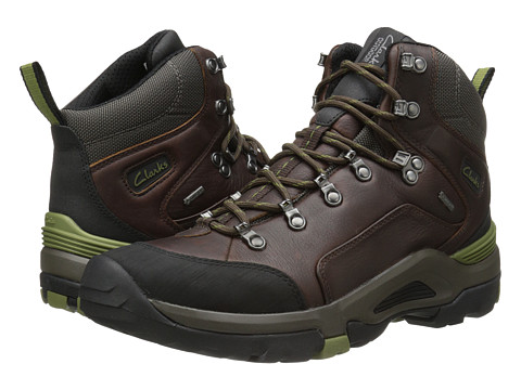 Clarks - Outride Hi GTX (Brown Leather) Men's Lace-up Boots