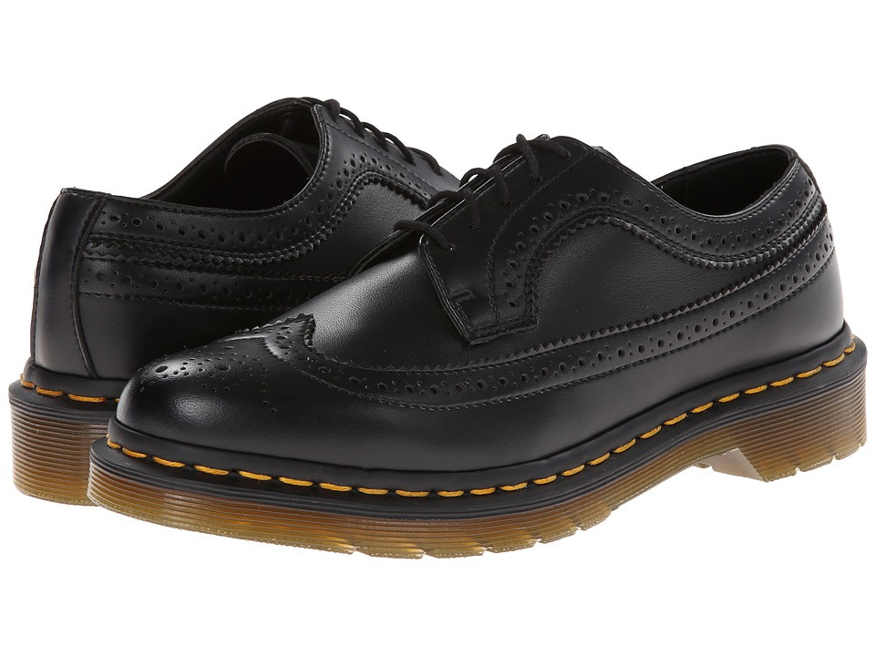 Dr. Martens - 3989 Wingtip Shoe (Black Felix Rub Off) Women's Lace Up Wing Tip Shoes