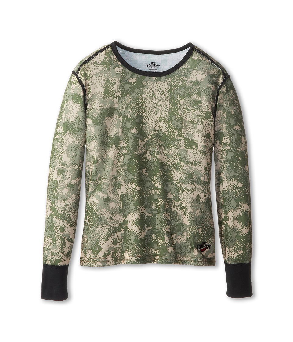 Hot Chillys Kids - Midweight Print Top (Little Kid/Big Kid) (Digital/Desert) Kid's T Shirt