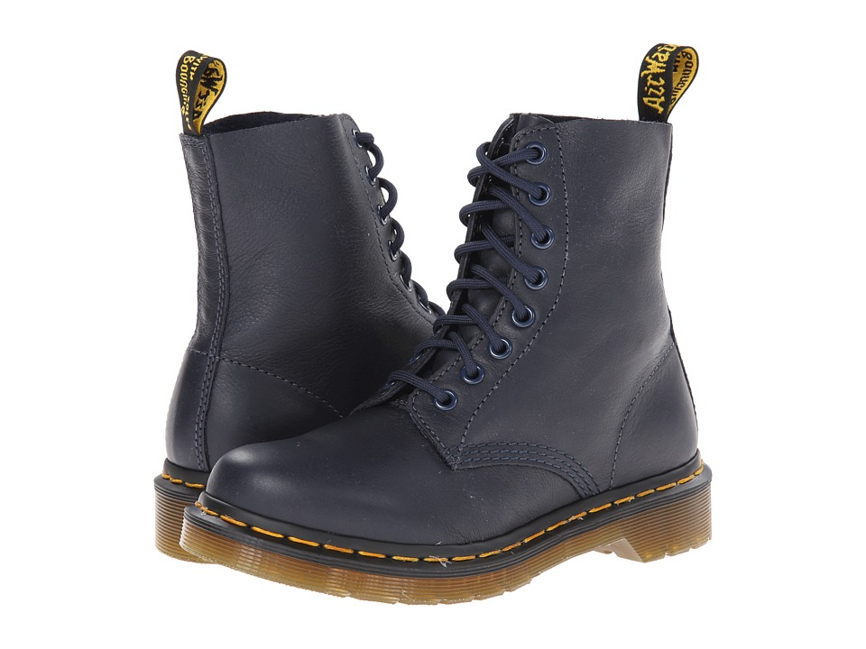 Dr. Martens - Pascal 8-Eye Boot (Dress Blue Virginia) Women's Lace-up Boots