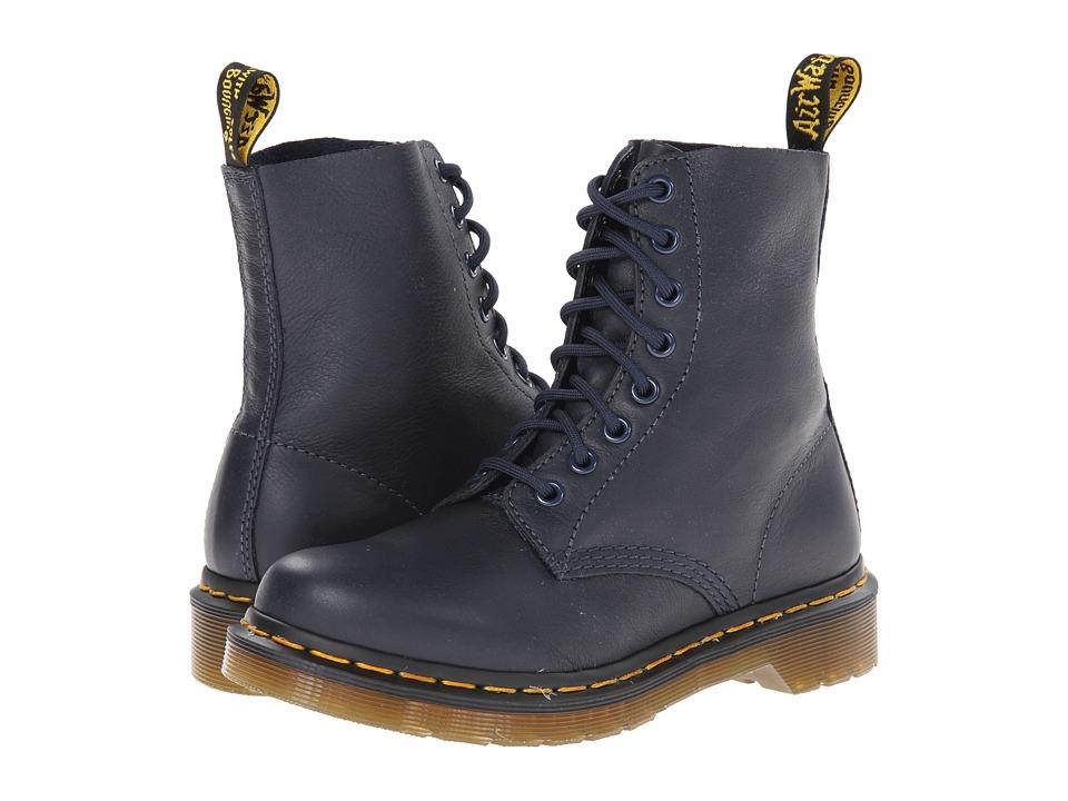 Dr. Martens - Pascal 8-Eye Boot (Dress Blue Virginia) Women's Lace-up Boots