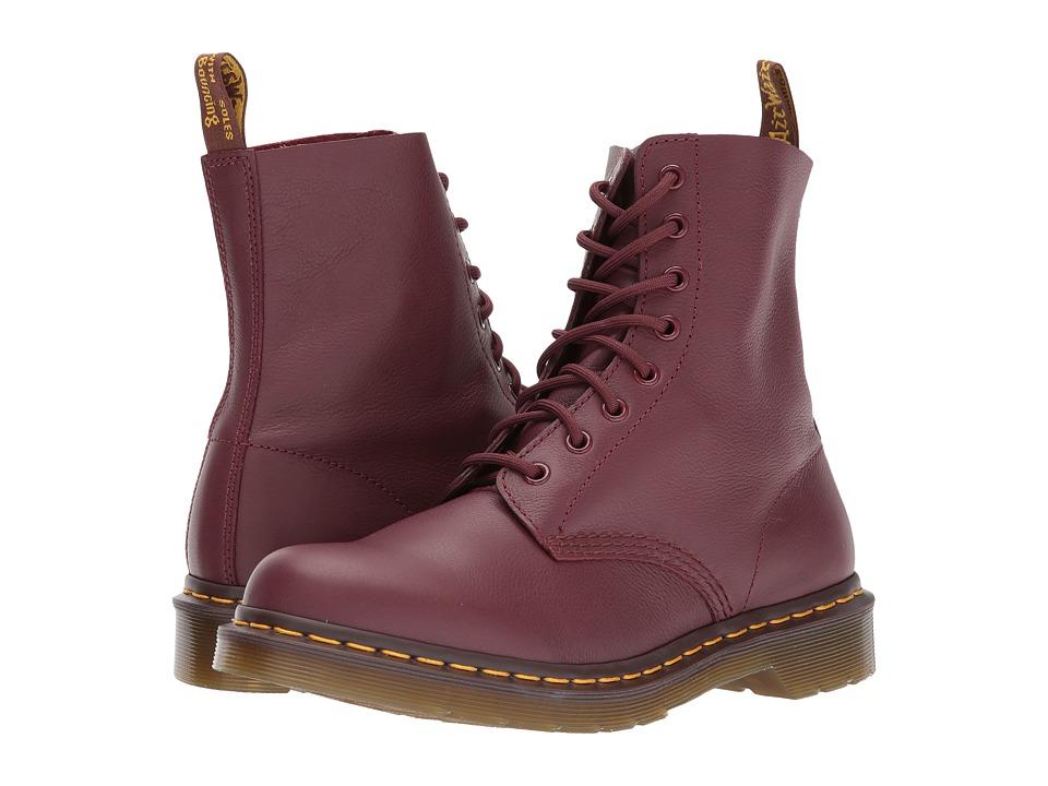 Dr. Martens - Pascal 8-Eye Boot (Cherry Red Virginia) Women