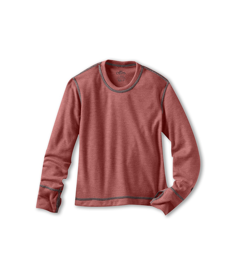 Hot Chillys Kids - Geo Crew Top (Toddler/Little Kids/Big Kids) (Rose Heather) Girl's Long Sleeve Pullover