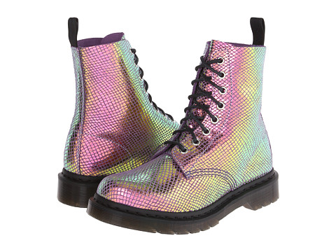 Dr. Martens - Pascal 8-Eye Boot (Violet Mirror Shift Suede) Women