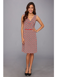 SALE! $39.99 - Save $59 on Anne Klein Foulard Print S L Dress (Red Multi) Apparel - 59.61% OFF $99.00