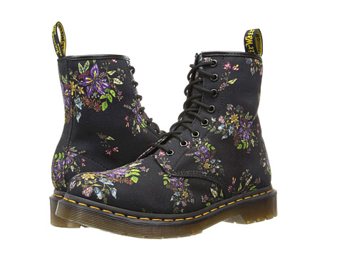 Dr. Martens - Castel 8-Eye Boot (Black Belladonna Fine Canvas) Women's Lace-up Boots