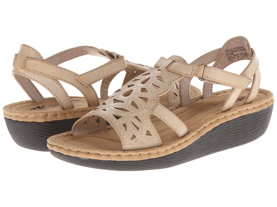 Cliffs by White Mountain - Chambray (Stone) Women's Wedge Shoes