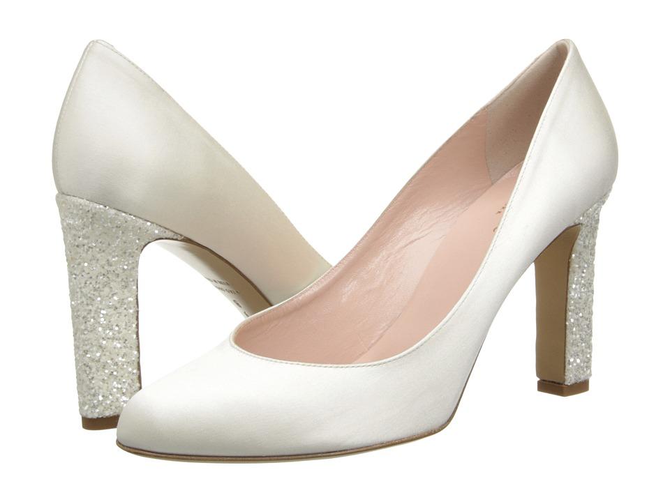 Kate Spade New York - Allora (Ivory Satin/White Glitter Heel) High Heels