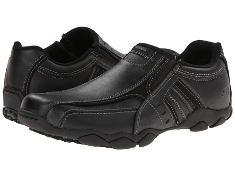 SKECHERS - Diameter (Black) Men's Slip on Shoes