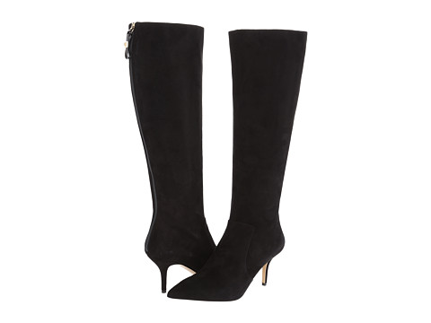 Kate Spade New York - Kit (Black Suede) Women's Zip Boots