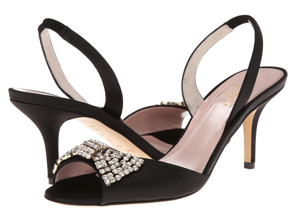 Kate Spade New York - Miva (Black Satin) High Heels