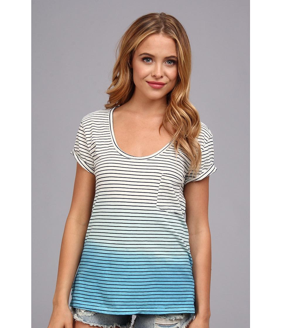 Alternative - Palisades Tee (Cambridge Blue/Aquarius) Women's Short Sleeve Pullover
