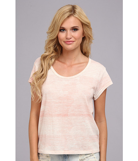 Alternative - Dreamer Tee (Salmon Static Stripe) Women