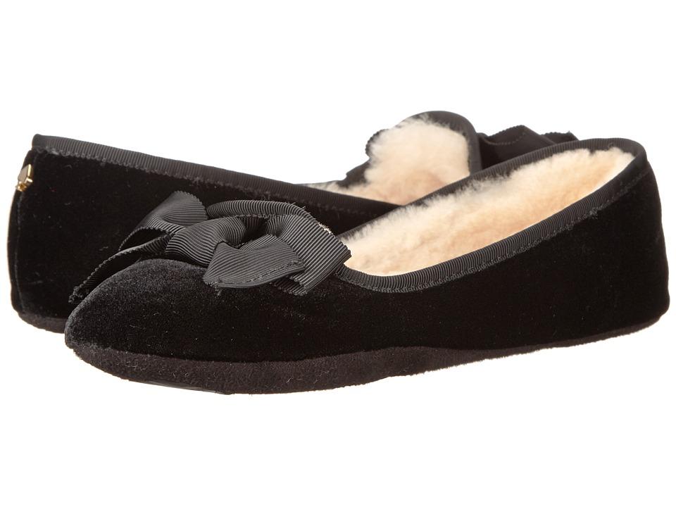 Kate Spade New York - Sabine (Black Velvet) Women's Slippers