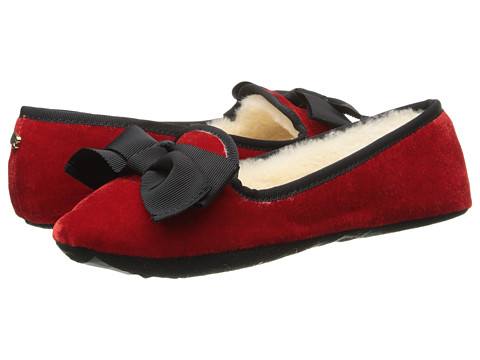Kate Spade New York - Sabine (Vibrant Red Velvet) Women's Slippers
