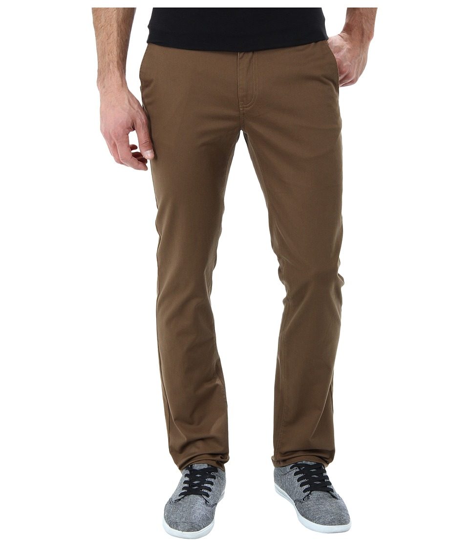 KR3W - K Slim Chino Pant (Coffee) Men's Casual Pants