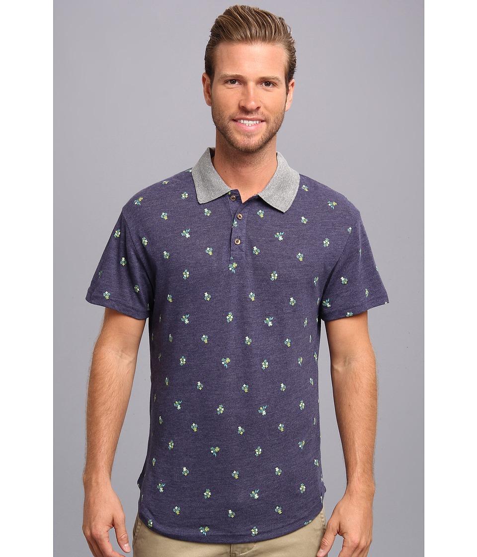 Alternative - Alvarado Polo (Eco True Cambridge Blue/Griffith Ditsy) Men's Short Sleeve Pullover