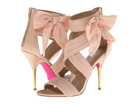 Paris Hilton Selene (Champagne Satin/Chiffon) High Heels