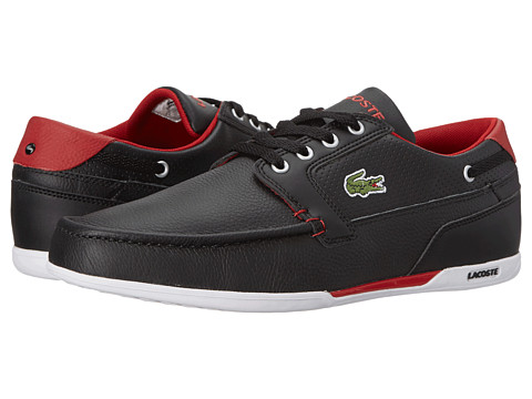 27a42dbf165b79 UPC 887255413874 product image for Lacoste Dreyfus Qs1 (Black Dark Red) Men s  Shoes ...