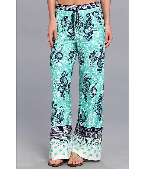 Nanette Lepore - Batiki Print Beach Pants (Aqua) Women
