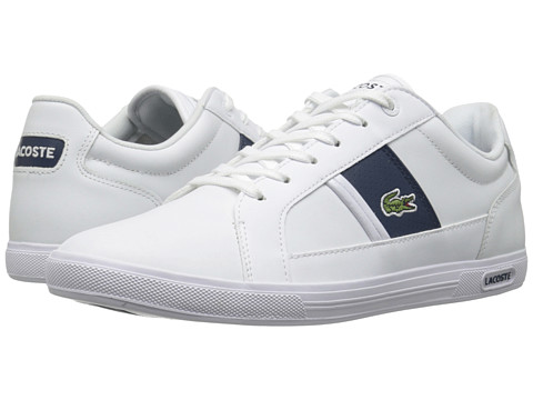 Lacoste - Europa Lcr (White/Dark Blue) Men's Shoes