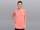 Reebok Re S/S Tee (Punch Pink S14-R) Women's Short Sleeve Pullover