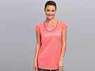 Reebok Run Short Sleeve Tee Dot (Punch Pink S14-R) Women's Short Sleeve Pullover